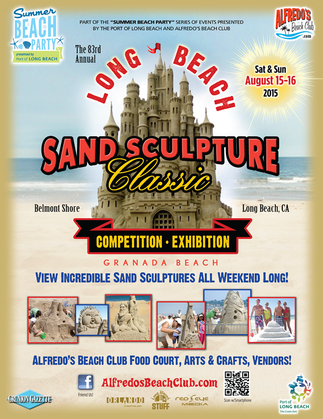 Long Beach Sand sculpture Contest Saturday & Sunday August 15 - 16, 2015
