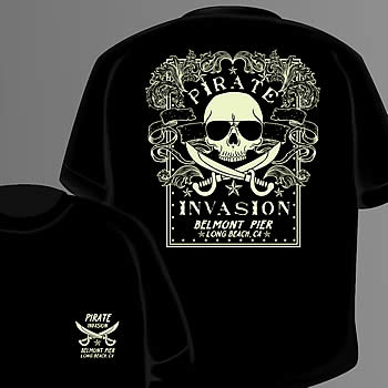Pirate Invasion of Belmont pier T-shirt