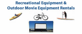 Recreational Rentals - Bikes, Surrey, Kayaks, Pedal Boats and Outdoor Movie Equipment Rentals